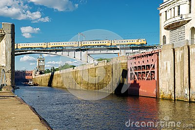 Floodgates on the Moscow canal