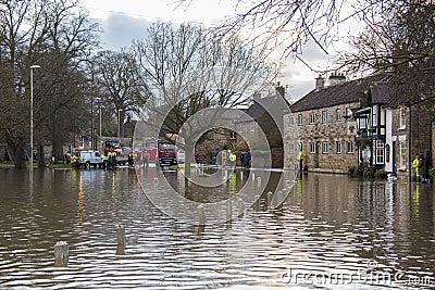 Flooding - av Yorkshire - av England Redaktionell Fotografering för Bildbyråer