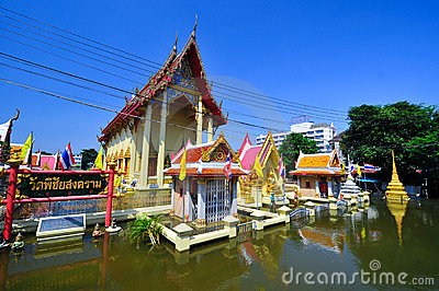 Flooding in Ayutthaya, Thailand. Editorial Stock Image