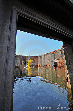 Flooding in Ayutthaya, Thailand. Editorial Image