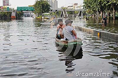 Flooding in Bangkok Editorial Stock Photo