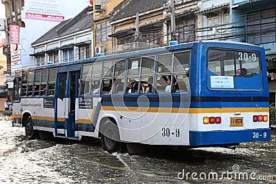 Flooding in Bangkok, Thailand Editorial Photography