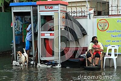 Flooding in Bangkok, Thailand Editorial Image