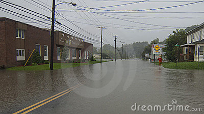 Flooding in Barre Vermont: Hurricane Irene Editorial Image