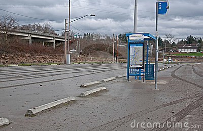 After Flooding Bus Stop Mess Editorial Photography