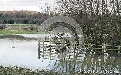 essex countryside uk flooded farmland