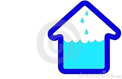 Flooding House Home Icon