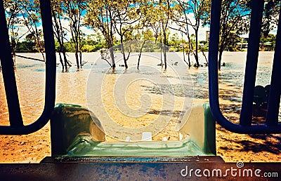 Flooding park Editorial Photo