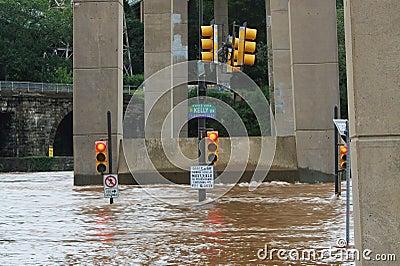 Flooding in Philadelphia Editorial Stock Image