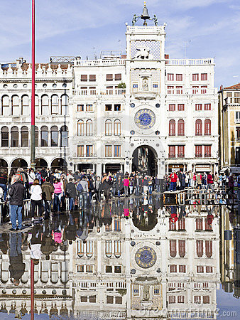 Flooding in St Marks Square Editorial Photo