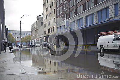 Flooding after storm Sandy Editorial Stock Photo