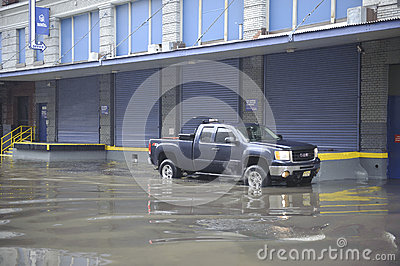 Flooding after storm Sandy Editorial Stock Image