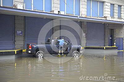Flooding after storm Sandy Editorial Photo