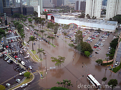 Flooding Streets Editorial Stock Photo