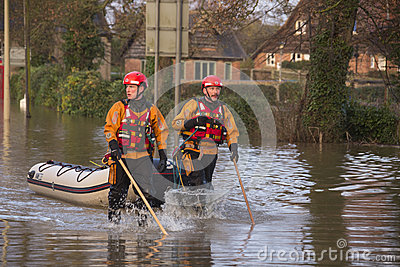 Flooding - Yorkshire - England Editorial Photography