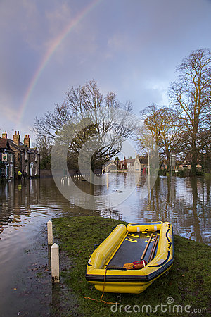Flooding - Yorkshire - England Editorial Stock Photo