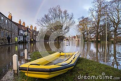 Flooding - Yorkshire - England Editorial Stock Photo