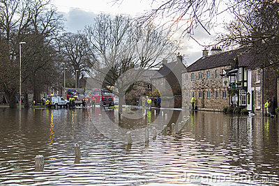 Flooding - Yorkshire - England Editorial Stock Image