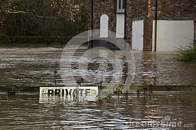 Flooding - Yorkshire - England Editorial Photo