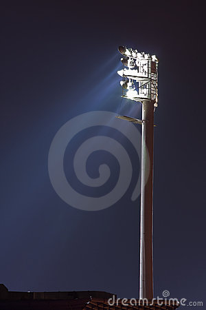 Floodlight at stadium