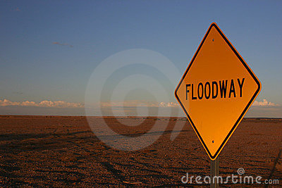 Floodway In Sunset Royalty Free Stock Image - Image: 7754376