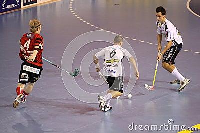Floolball - Stresovice vs. Ostrava Editorial Stock Image