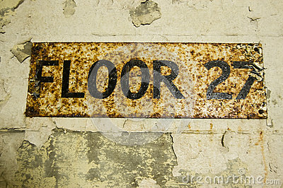 Floor 27 Sign