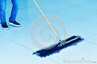 Floor cleaning Stock Photo