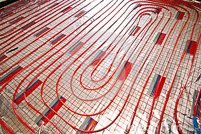 Floor heating installation