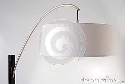 Floor lamp detail. White lampshade