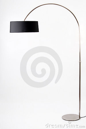 Floor lamp. Isolated on white background