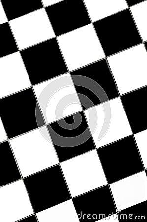 Floor mosaic white squares tile