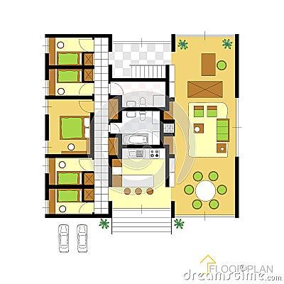 Free Floor Plan Royalty Free Stock Image - 41207386