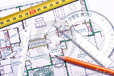 Floor plan and architect s tools