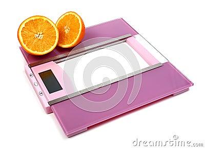 Floor scales and orange