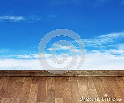 Floor with sky