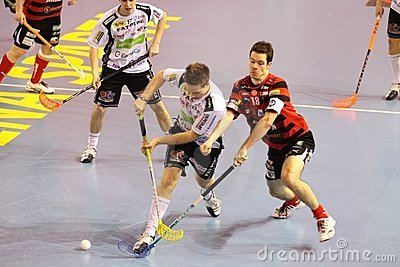 Floorball match - Stresovice - Ostrava Editorial Photography