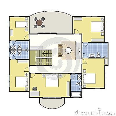 floorplan architektur plan haus lizenzfreies stockbild bild 19293046. Black Bedroom Furniture Sets. Home Design Ideas