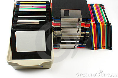 Floppy discs isolated