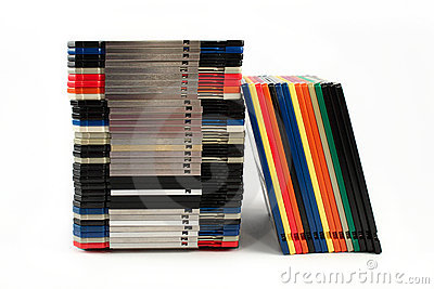 Floppy discs in stacks