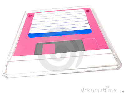 Floppy disk in a cover box