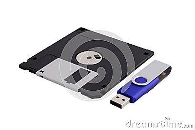 Floppy Disk & Flash Drive