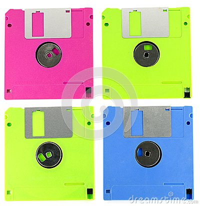 Floppy Disk Magnetic Computer Data Storage Support Stock ...
