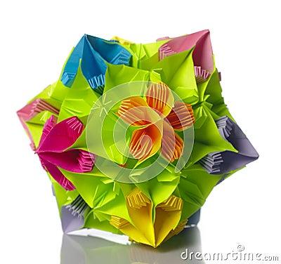 Flor do kusudama de Origami
