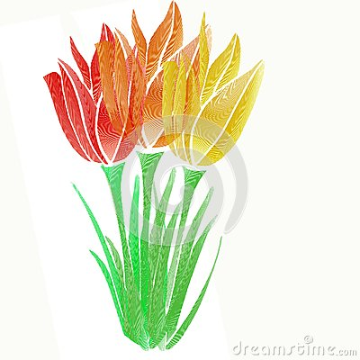 Flor gráfica