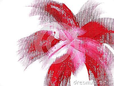 Flor vermelha Funky