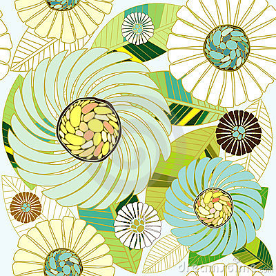 Free Flora Abstract Seamless Design Stock Image - 23608671