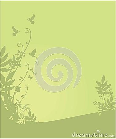 Flora e fundo da fauna