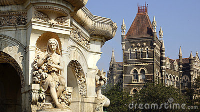 Flora fountain in Mumbai, India Stock Photo