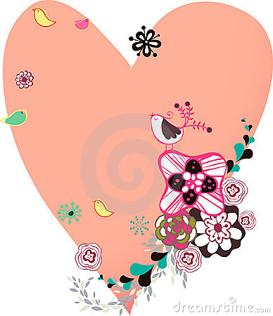 Flora love shape card